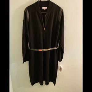 NWT Calvin Klein Belted Sweater Dress